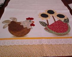 pano de pratos bordado