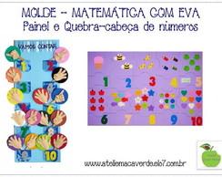 MOLDE PAINEL NUMEROS - QUEBRA-CABE�A EVA