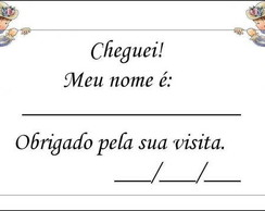 Cart�o tag Cheguei! 2