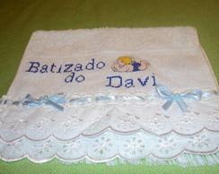 toalha de batizado