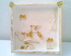 Quadro maquete consultorio de ouro