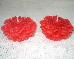 Velas em Formas de rosas