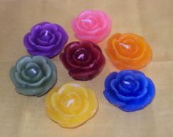 Vela Flutuante Forma de Rosa.