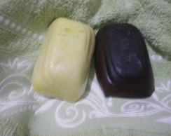 Sabonete de chocolate ao leite