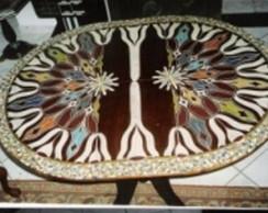 Mesa oval ou redonda madeira