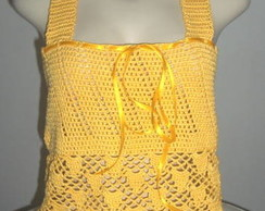 Blusa regata em Crochet Sun