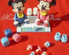 baby disney Mickey e Minie.