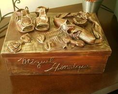 Caixa metalizada para lembran�as
