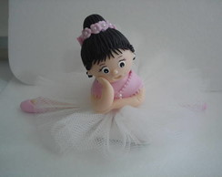 Bailarina em biscuit