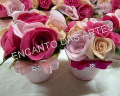 vaso de flores feltro