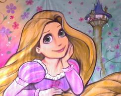 Painel em tecido Enrolados - Rapunzel
