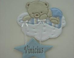 Porta de maternidade Urso na nuvem