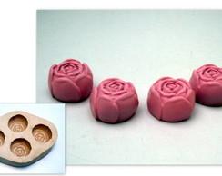 Molde de Silicone - Rosas (4 cavidades)