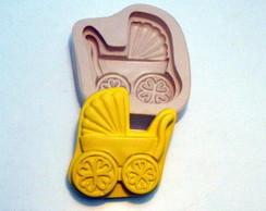 Molde de silicone - Carrinho de beb�.