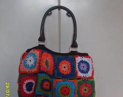 Bolsa de croch� colorida