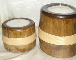 Velas em bambu