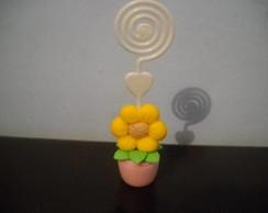 Lembran�a Porta recados flor no vasinho
