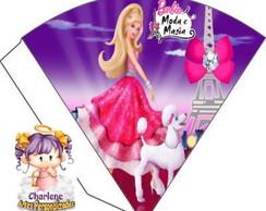 Cone de Guloseimas - Barbie Moda e Magia