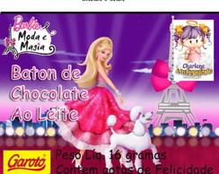 Rotulo de baton barbie moda e magia