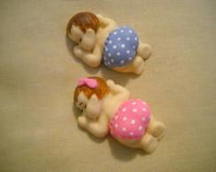 Lembran�a nascimento beb�-�m� em biscuit