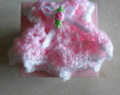 Caixinha MDF com Mini vestido em croch�