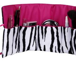 Organizador de maquiagem zebra pink
