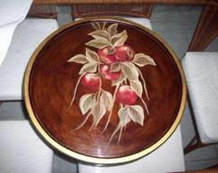 Prato girat�rio/petisqueira em madeira