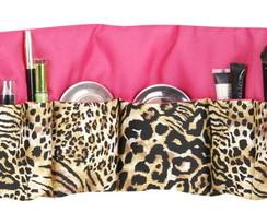 Organizador de maquiagem bichos + pink