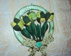 Guirlanda P com tulipas