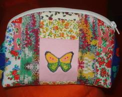 N�cessaire em patchwork - Borboleta