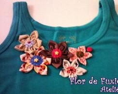 camiseta flor e joaninha VENDIDA
