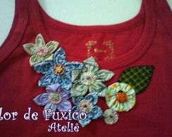 camiseta rosa com flores VENDIDA