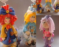 Menina Boneca em biscuit-Porta- Recado