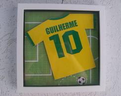 Quadro Camiseta de Futebol - Brasil