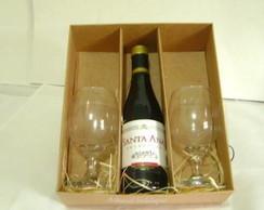 Caixa Mini vinho C/ 2 Ta�as Pct. c/10