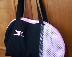 [ESGOTADA] Bolsa preta e rosa com po�