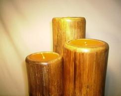 Conj. Vela em Bambu