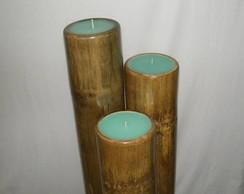 Conjunto de velas bambu