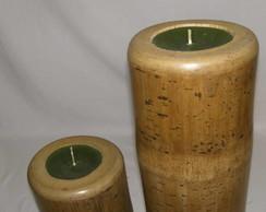 Velas em Bambus
