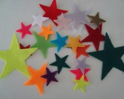 Estrelas - Apliques de feltro
