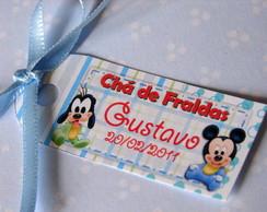 Tag para lembran�a ch� de fraldas Disney