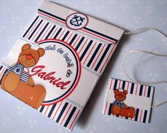Convite ch� de beb� urso marinheiro