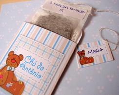 Convite ch� de beb� Urso e Lua