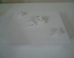 Caixa de bijuteria branca