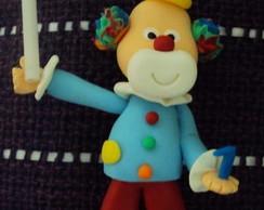 Palhacinho Topo de Bolo com vela!!!!!