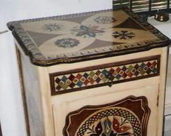 Criado mudo antigo reciclado/madeira