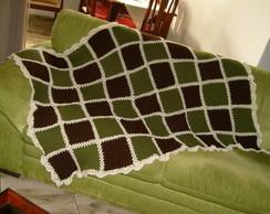 Manta - Xadrez verde e marrom