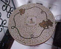 Tampo em mosaico para mesa de canto