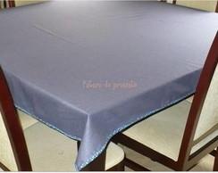 Toalha de mesa feita de tecido PET - azu