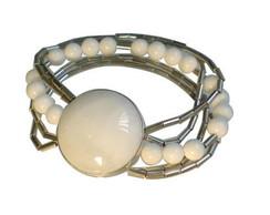 Pulseira em prata com quartzo branco